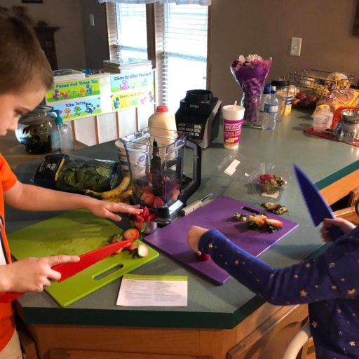 Making at CATCH smoothie at home!